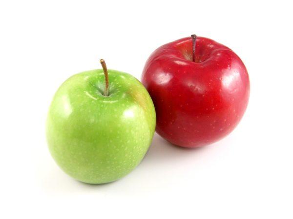 яблоки красные и зеленые