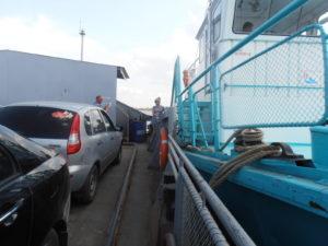 Как крепятся между собой борта судна и парома